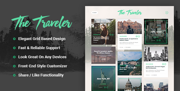 The Traveler - Responsive WordPress Blog Theme - Personal Blog / Magazine