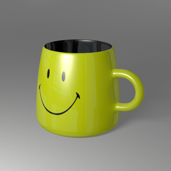 Smiley Face Coffee Mug - 3DOcean Item for Sale