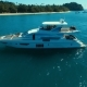 Aerial: Luxury Boat Near the Beach. - VideoHive Item for Sale