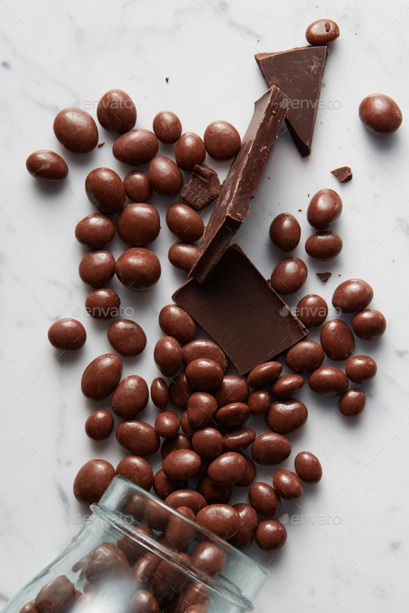 chocolate balls background - Stock Photo - Images
