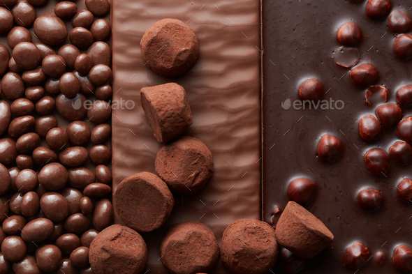 background of chocolate and sweets - Stock Photo - Images
