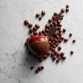 Chocolate on red apple fruit - PhotoDune Item for Sale
