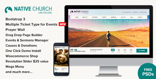 NativeChurch - Multi Purpose WordPress Theme