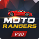 Moto Rangers | PSD Template - ThemeForest Item for Sale