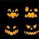 Set of Jack-o-Lanterns Faces - GraphicRiver Item for Sale