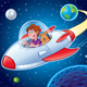 Boy with Dog In Spaceship - GraphicRiver Item for Sale