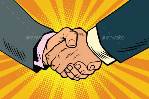 Business Handshake, Partnership and Teamwork - Business Conceptual
