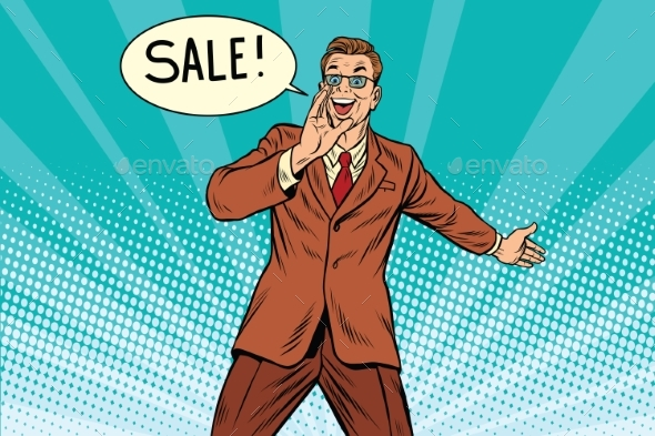Sale Businessman Promoter - Business Conceptual