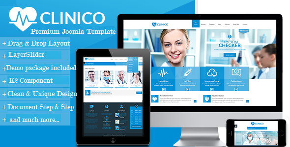 Clinico - Premium Medical and Health Joomla Template