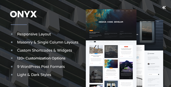Onyx - Responsive WordPress Blog Theme