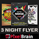 Night Club Party Flyer Template Bundle Vol - 06 - GraphicRiver Item for Sale