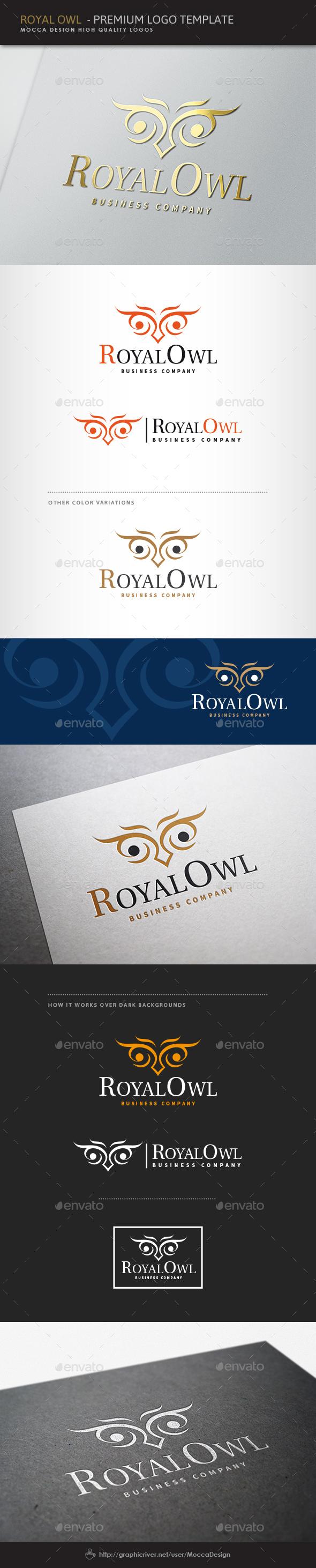 Royal Owl Logo - Animals Logo Templates
