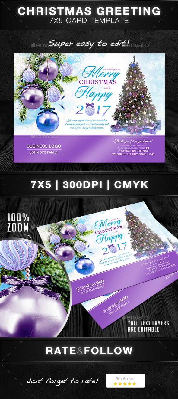 Christmas Greeting Card Template - Greeting Cards Cards & Invites