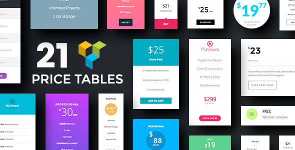 Pricing Tables for Visual Composer - CodeCanyon Item for Sale