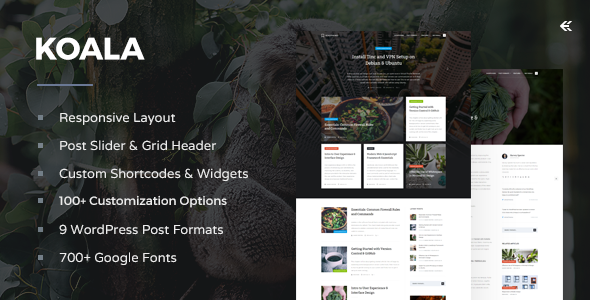 Koala - Responsive WordPress Blog Theme - Personal Blog / Magazine