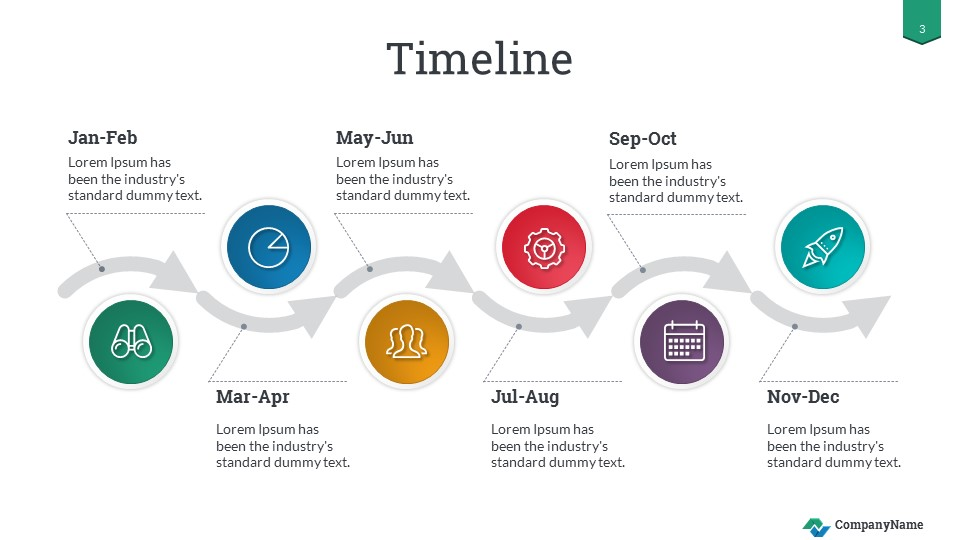 Timeline Success Powerpoint Presentation Template By Sananik