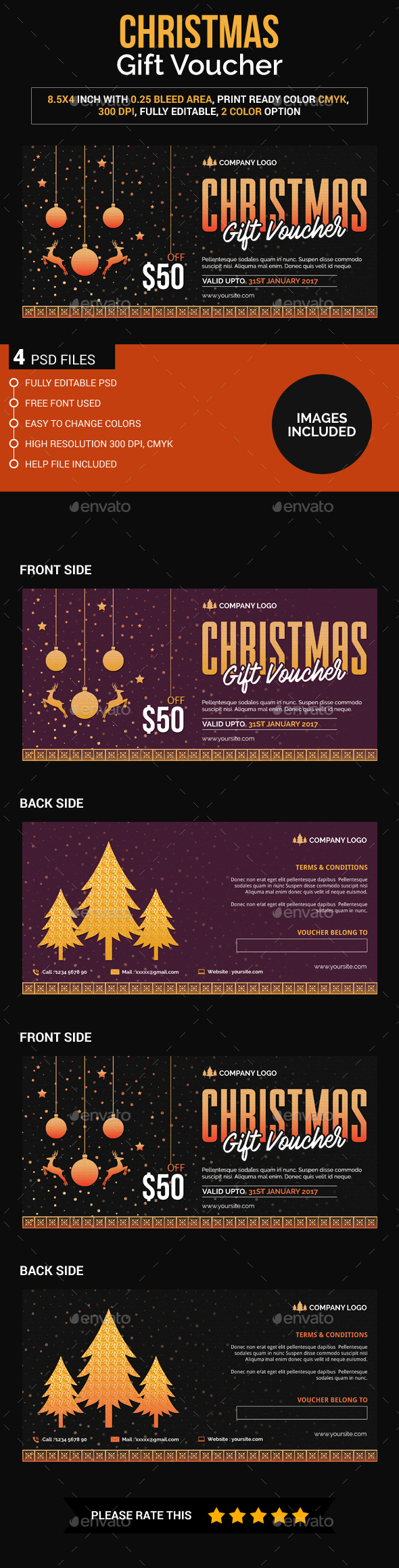 Christmas gift voucher - Loyalty Cards Cards & Invites
