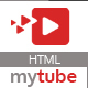 MyTube - Video Theme HTML Template For Youtube, Vimeo  & Daily Motion Clips - ThemeForest Item for Sale