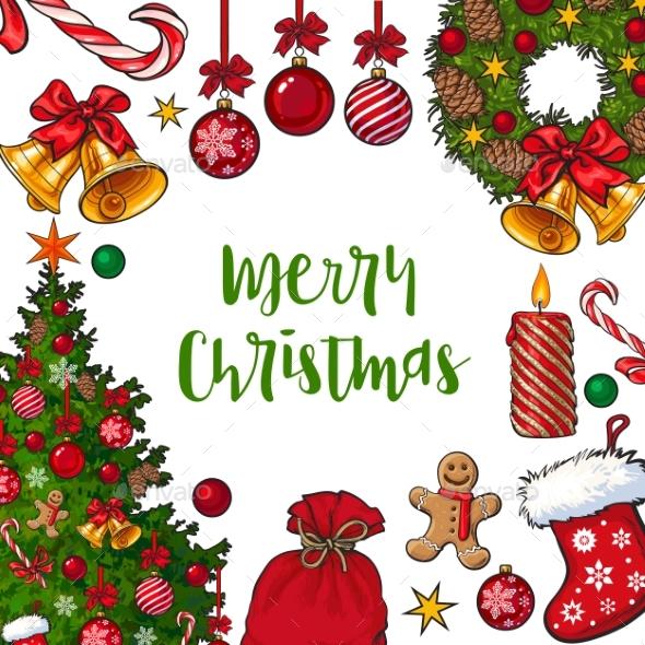 Greeting Card, Poster, Banner Template - Christmas Seasons/Holidays