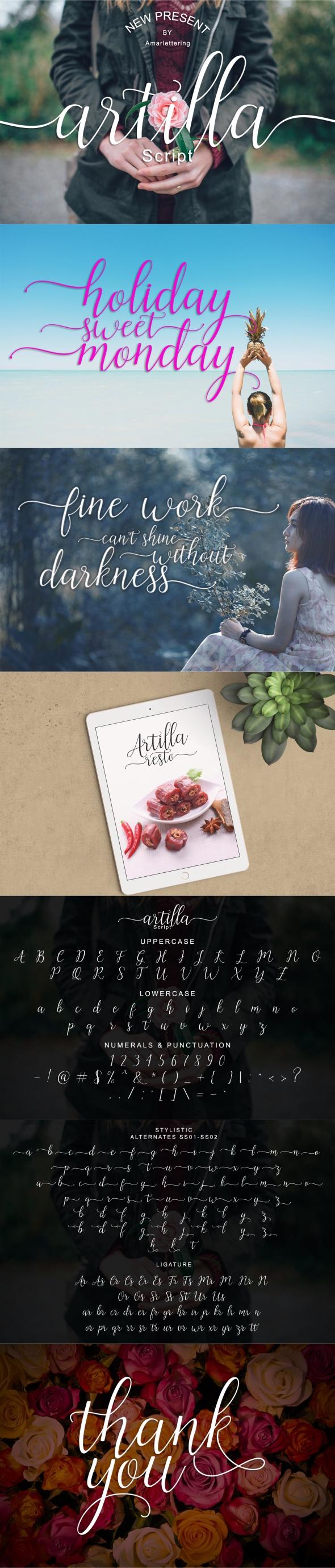 Artilla script - Script Fonts