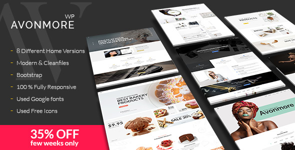 Avonmore – Premium Creative Multipurpose WordPress Theme