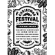 Vintage Christmas Festival Poster Black And White - GraphicRiver Item for Sale