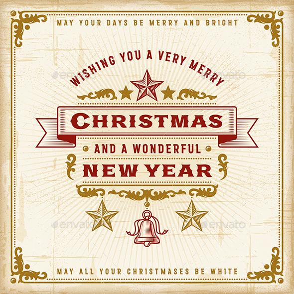 Vintage Christmas Typography - Christmas Seasons/Holidays