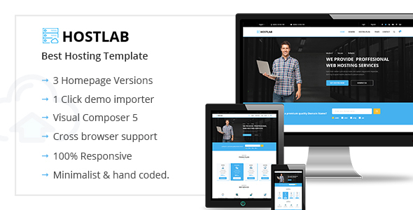 HostLab – Hosting & Technology WordPress Theme