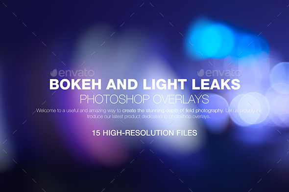 Bokeh & Light Leaks Backgrounds - Abstract Backgrounds