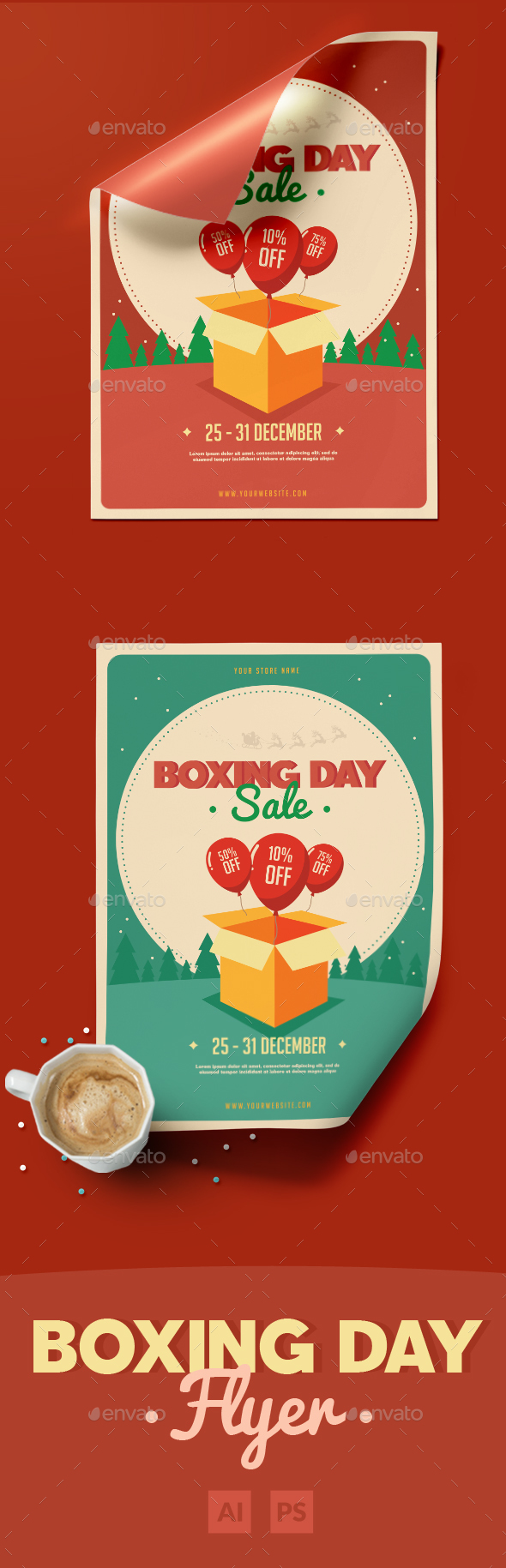 Boxing Day Sale Flyer - Events Flyers