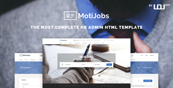 Motijobs - Human Resources Admin Template - Corporate Site Templates