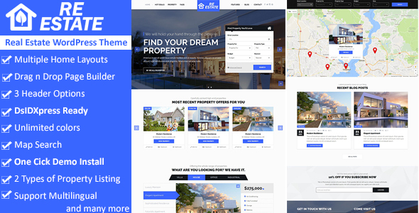 ReEstate – Real Estate WordPress Theme