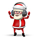 Santa Dancing in Headphones - VideoHive Item for Sale