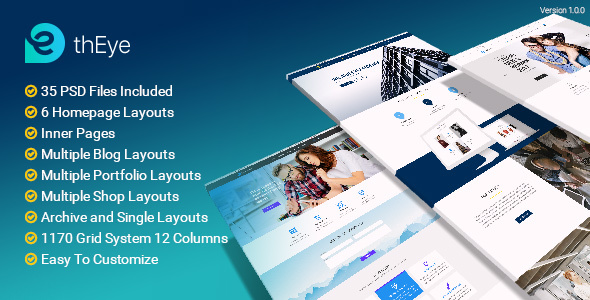 thEye | Multi-Purpose PSD Template - PSD Templates