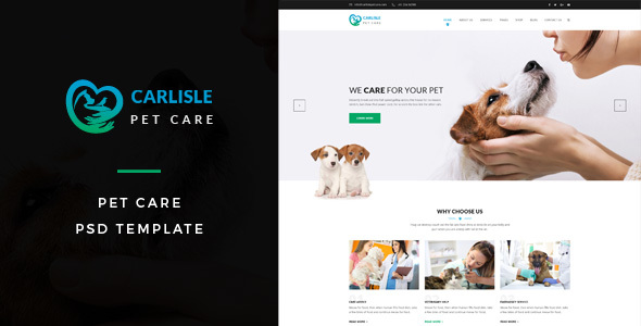 Carlisle : Pet Care PSD Template