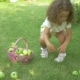 Curly Girl Picking Apples in Garden - VideoHive Item for Sale