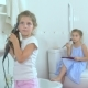 Little Girls Doing the Beauty in the Bathroom - VideoHive Item for Sale