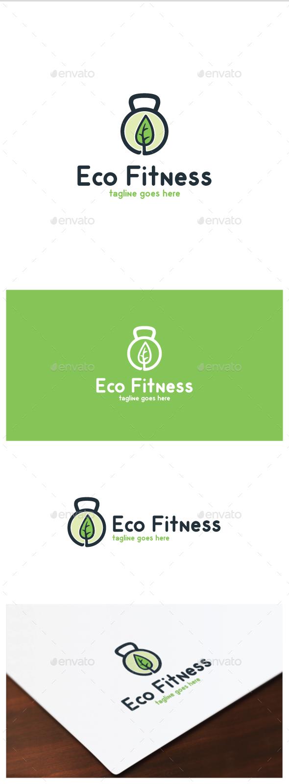 Eco Fitness Logo - Objects Logo Templates