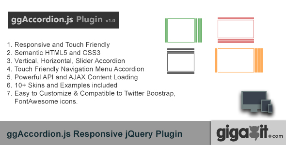 ggAccordion - A Responsive jQuery Plugin - CodeCanyon Item for Sale