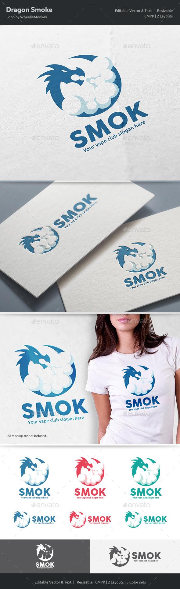 Dragon Smoke Logo - Vector Abstract