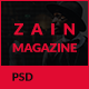 ZAIN News & Magazine PSD Template