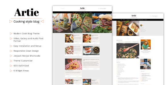 Artie - Food Blog WordPress Theme - Personal Blog / Magazine