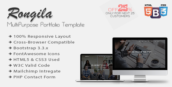 Rongila – MultiPurpose Onepage Portfolio Template