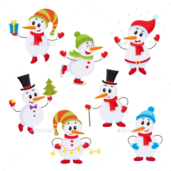 Little Snowmen - Christmas Seasons/Holidays