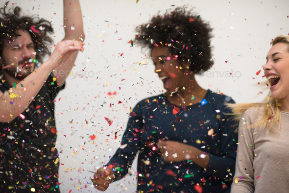 confetti party - Stock Photo - Images