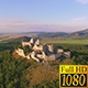 Aerial Castle Ruins On Mountain - VideoHive Item for Sale