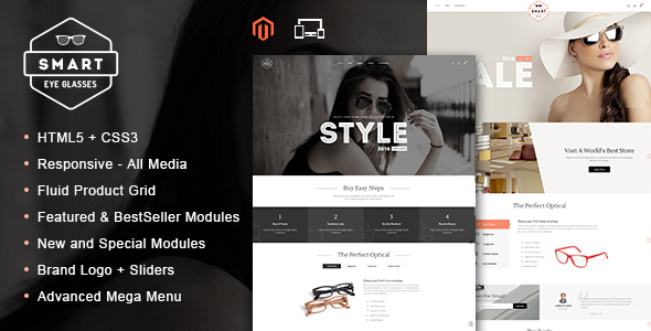 Smart Eye Glasses - Responsive Magento Theme