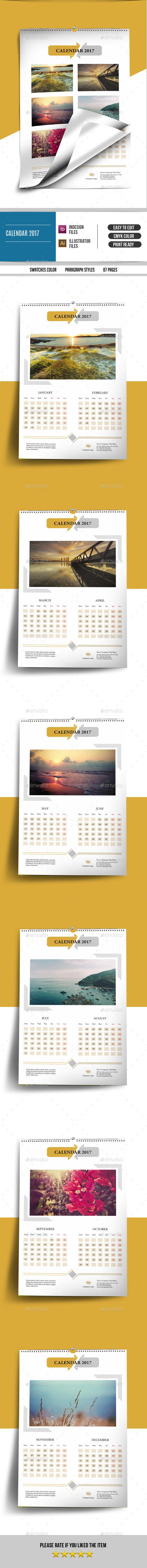 Wall Calendar for 2017 -V20 - Calendars Stationery