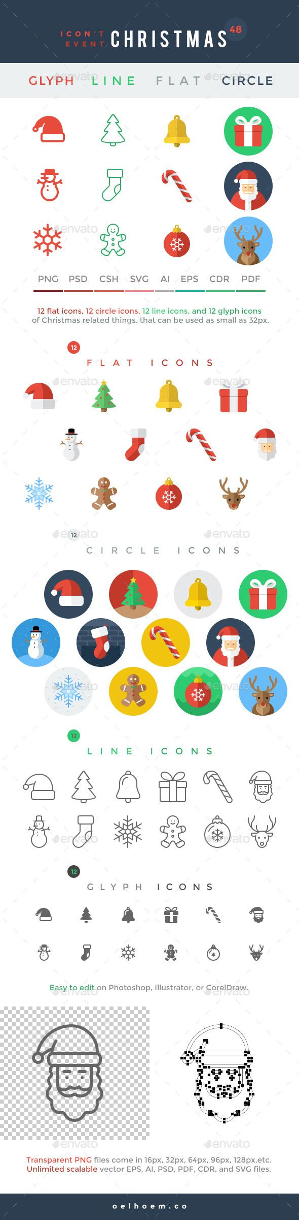 Icon't Event - 48 Christmas Icons - Seasonal Icons