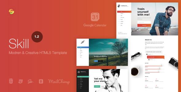 Skill - Modern & Creative HTML5 Template - Portfolio Creative